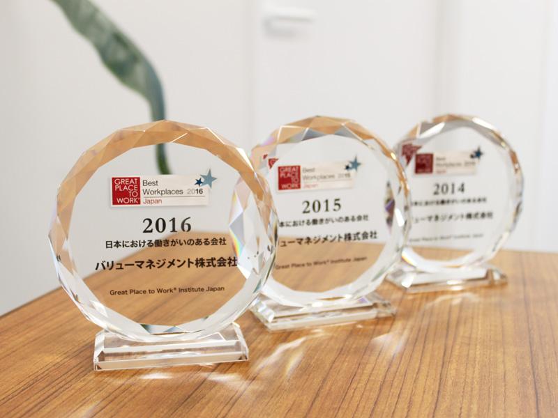 意識調査機関Great Place to WorkRによる 2016年発表「日本における働きがいのある会社」 ランキング2位(従業員100-999人)